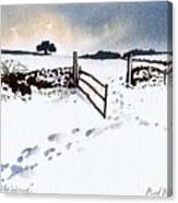 Winter In Stainland Canvas Print