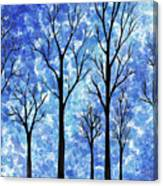 Winter In The Woods Abstract Canvas Print