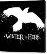 Winter Is Here - Large Raven Canvas Print