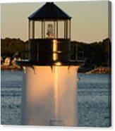 Winter Island Lighthouse At Sunset, Salem, Massachusetts Canvas Print