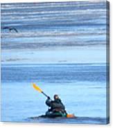Winter Kayak Canvas Print