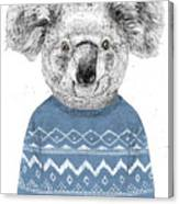Winter Koala Canvas Print
