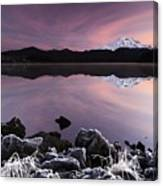 Winter Lake Frost Canvas Print