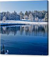 Winter Lake Scene 2 Canvas Print