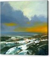 Winter Lake View Canvas Print