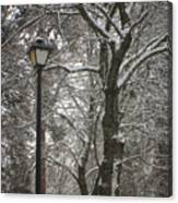 Winter Lamp Post Canvas Print