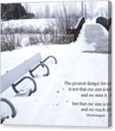 winter landscape with Inspirational Text Canvas Print