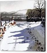 Winter Lane Sowood Canvas Print