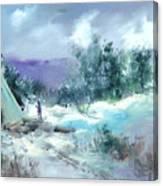 Winter Lodge Canvas Print
