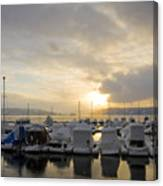 Winter Marina Canvas Print