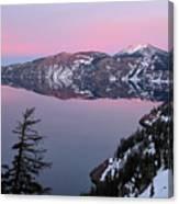 Winter Mirror At Crater Lake Canvas Print