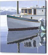 Winter Moorage Canvas Print