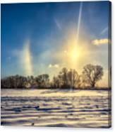 Winter Morn In Minnesota Canvas Print