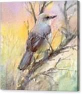 Winter Morning - Mockingbird Canvas Print