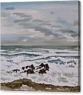 Winter Morning Seascape Canvas Print