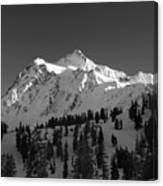 Winter Mountain Monochrome Canvas Print