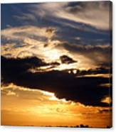 Winter Ocean Sunset At Cherry Grove Beach Canvas Print