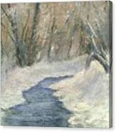 Winter On Stormcreek Canvas Print