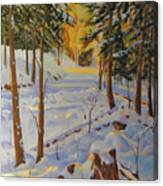 Winter On The Lane Canvas Print