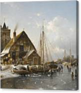 Winter On The Rhine Canvas Print