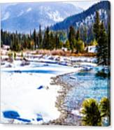 Winter On The River Canvas Print