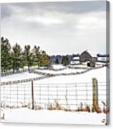 Winter Ontario Farm 3 Canvas Print