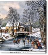 Winter Pastime, 1870 Canvas Print