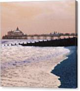 Winter Pier Canvas Print