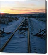 Winter Rails 1 Canvas Print