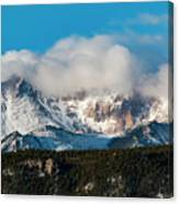 Winter Receding On Pikes Peak Canvas Print