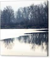 Winter Reflection On The Yakima River Canvas Print