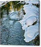Winter River Reflections - Yellowstone Canvas Print
