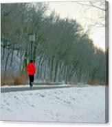 Winter Run Canvas Print