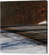 Winter Run Canvas Print