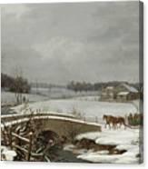 Winter Scene In Pennsylvania Canvas Print