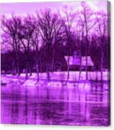 Winter Scene In Violet Canvas Print
