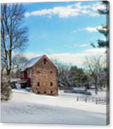 Winter Scene On A Pennsylvania Farm Canvas Print