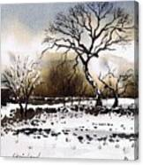Winter Scene Stainland Canvas Print
