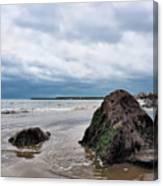Winter Seascape - Lyme Regis Canvas Print