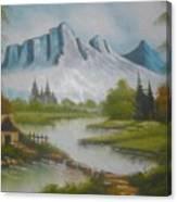 Winter Season Cloudy Weather Canvas Print
