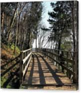 Winter Shadows At The Bridge Canvas Print