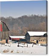 Winter Shed And Barn Canvas Print
