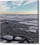 Winter Shoreline Canvas Print