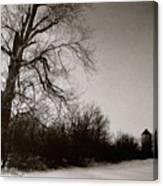 Winter Silo Canvas Print