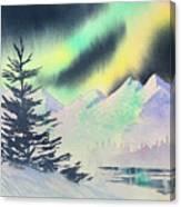 Winter Skylights Canvas Print