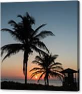 Winter Solstice Sunrise Delray Beach Florida Canvas Print