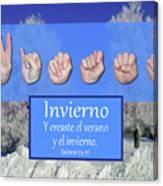 Winter Spanish Canvas Print