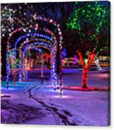 Winter Spirit At Locomotive Park Canvas Print