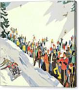 Winter Sport, Mountain, France Canvas Print