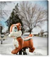 Winter Squirel Canvas Print
